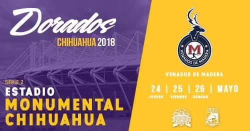 En el Monumental Chihuahua, Dorados vs Venados de poder a poder
