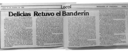 Así se dio la noticia del cuarto juego de la serie final de 1986.