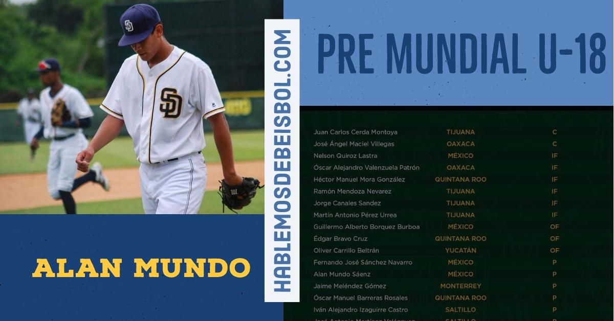 Chihuahuense irá a premundial sub 18 de béisbol