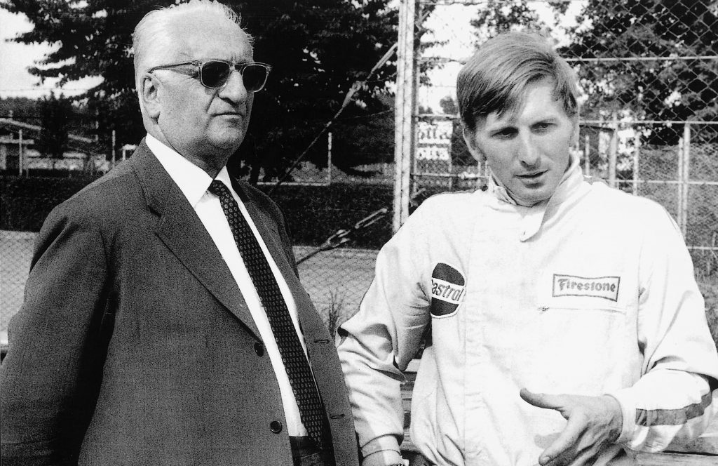 Enzo_Ferrari, Ferrari, Derek_Bell