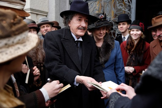 Czech Republic - Geoffrey Rush (Albert Einstein) with Emily Watson (Elsa Einstein) in National Geographic's Genius (National Geographic/Dusan Martincek)