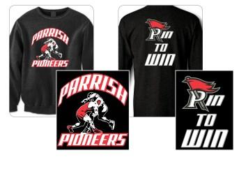 Apparel graphics design for Parrish Middle School's wrestling team