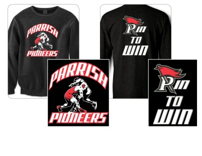 Apparel graphics design for Parrish Middle School's wrestling team