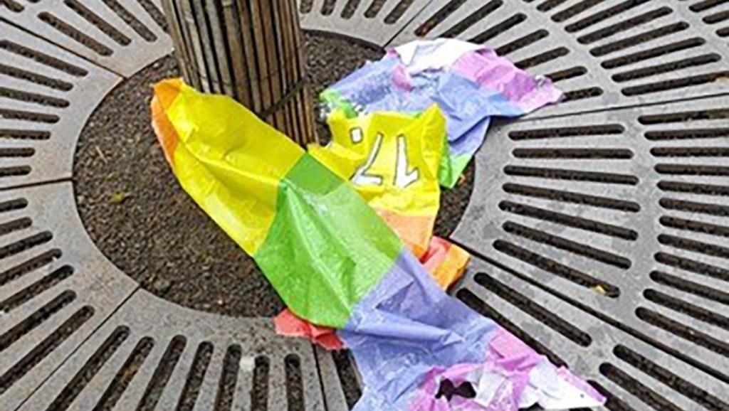 100 Regenbogenfahnen in Buchs abgerissen und zerstört