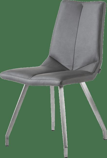 artella chaise 4 pieds inox tatra anthracite