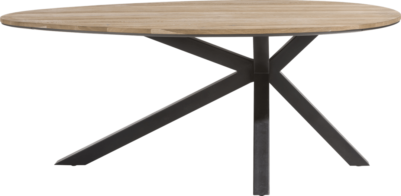 colombo table ovale 200 x 120 cm chene massif mdf