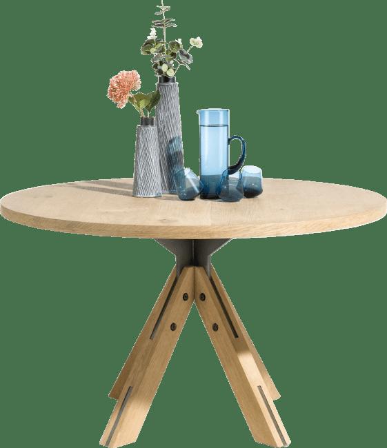 jardino table ronde 130 cm pied central