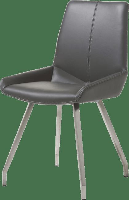 levi chaise 4 pieds inox plie cuir catania