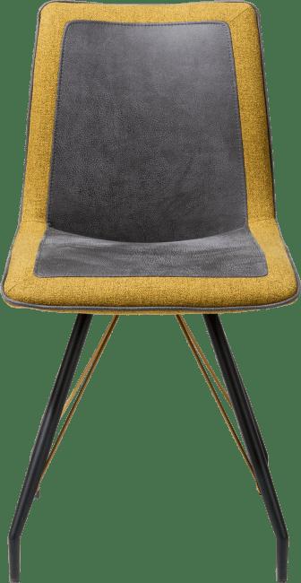 jaro chaise pied metal noir poignee avec couleur combi rocky lady