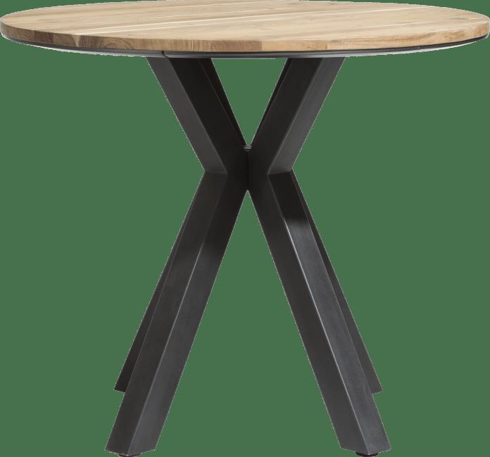 colombo table de bar ronde 110 cm chene massif mdf