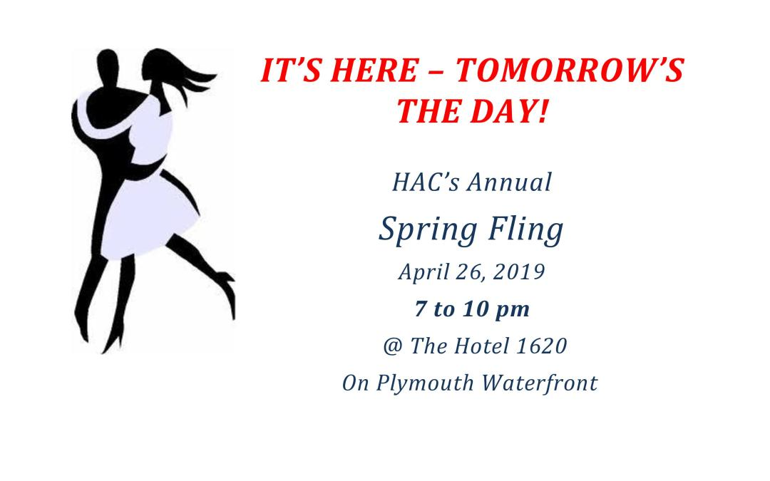 Spring Fling Tomorrow 7-10 pm – Lots of Raffle Prizes Offered So Get Your Tickets!