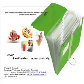 HACCP Pawilon Gastronomiczny Lody