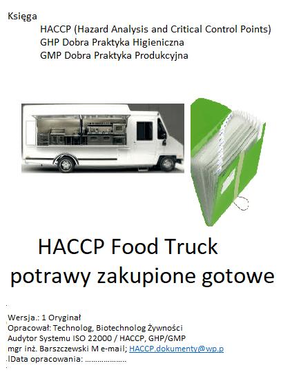 Księga HACCP Food Truck flaczki golonka zapiecka pstrąg