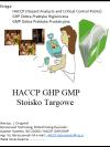 HACCP GHP GMP Stoisko Targowe
