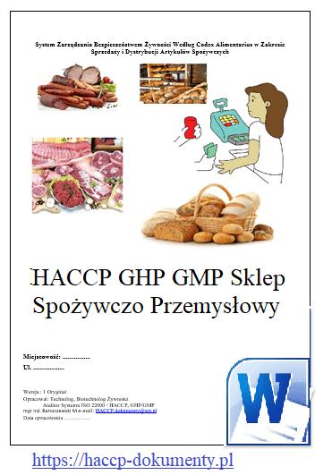 HACCP GMP/GHP Sklep Spożywczy Przemysłowy