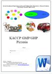 HACCP GMP/GHP Pizzeria z alkoholem