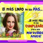 Fotomontaje de Feliz Cumpleaños AMIGA