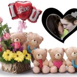 Fotomontaje i love you con peluches