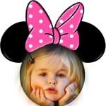 Fotomontaje infantil orejitas de Minnie