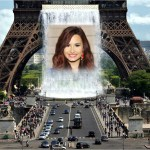 Fotomontaje de la torre Eiffel