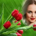 Hacer fotomontaje de tulipanes