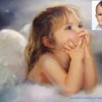 Dulce fotomontaje de ángelito