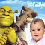 Fotomontaje infantil de Shrek