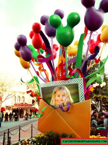 Fotomontaje con globos