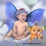Fotomontaje de angelito bebé