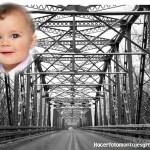 Fotomontaje de paisaje de puente