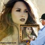 Fotomontaje de pintor para mi foto