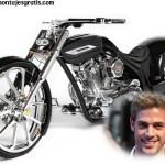 Fotomontaje de brillante moto