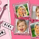 Fotomontaje de chicas para colocar cuatro fotos