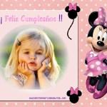 Fotomontaje infantil de Cumpleaños con Minnie