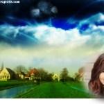Fotomontaje de paisaje de fantasía