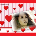 Fotomontaje de corazoncitos rojos