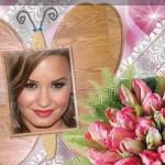 Fotomontaje de ramo de flores
