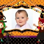 Fotomontaje de Halloween con dos niñas