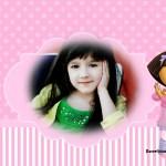 Fotomontaje infantil de Dora la Exploradora