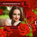 "Fotomontaje de ""I love You"" con rosas"