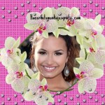 Fotomontaje para mujeres con brillos y flores