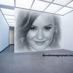 Fotomontaje de pared en galería