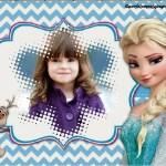 Fotomontaje con Elsa y Olaf de Frozen