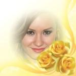 Fotomontaje con rosas amarillas