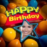 Fotomontaje de Feliz Cumpleaños para crear gratis