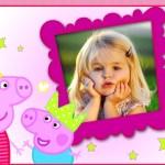 Fotomontaje de Peppa y George Pig