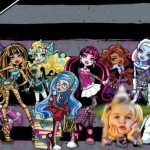 Fotomontaje de Monster High