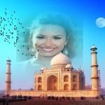 Fotomontaje del Taj Mahal