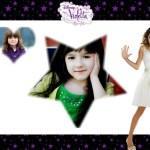 Fotomontaje de Violetta para dos fotos