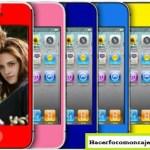 Fotomontaje con Iphones de colores